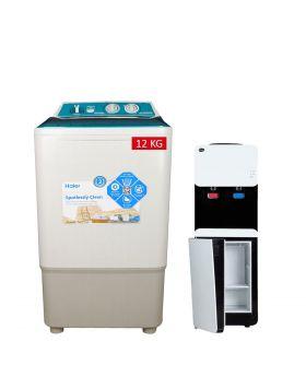 Haier Single Tub Washing Machine HWM-12035FF + PEL 115 Smart Water Dispenser