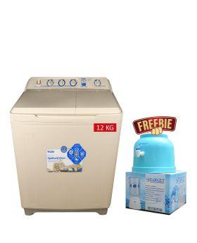 Haier Semi-Automatic Washing Machine HWM-120AS + Target Water Dispenser