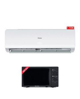 Haier 1 Ton Non-Inverter AC HSU-12CF +  EcoStar Microwave Oven 20 Ltrs EM 2023BSM