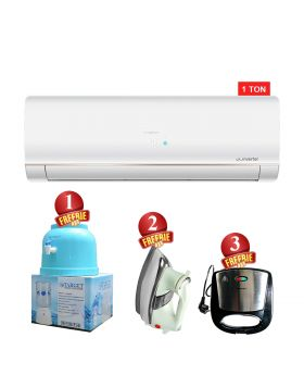 Haier HSU-12LFCB Cool Only Inverter Air Conditioner + National Deluxe Automatic Iron + Target Water Dispenser + National Sandwich Maker NP-590