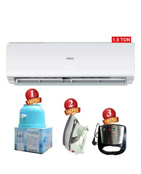 Haier 1.5 Ton Non-Inverter AC HSU-18CF + National Deluxe Automatic Iron + Target Water Dispenser + National Sandwich Maker NP-590