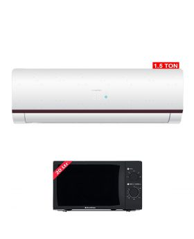 Haier HSU-18HFM Marvel 1.5 Ton DC Inverter Air Conditioner + EcoStar Microwave Oven 20 Ltrs EM 2023BSM