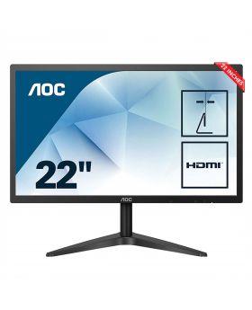 "AOC LED 22"" 22B1HS (5ms, 60Hz, IPS Pannel, Full HD 1920x1080, FrameLess LED, Audio Output,VGA & HDMI Input, Vesa Mount)"