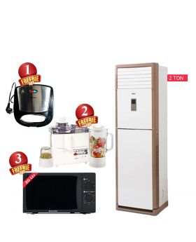 Orient Ultimate 24G 2 ton Heat And Cool Floor Standing + EcoStar Microwave Oven 20 Ltrs EM 2023BSM + National Deluxe Automatic Iron + National 3 In 1 Juicer, Blender & Dry Mill SP-178-J +  National Sandwich Maker NP-590