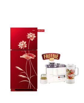 Orient Glass Door Refrigerator Ruby 260 Liters + National 3 In 1 Juicer, Blender & Dry Mill SP-178-J