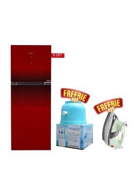 Haier HRF-306 IDBT/IDRT Digital Panel Inverter Turbo Cooling Refrigerator + National Deluxe Automatic Iron + Target Water Dispenser