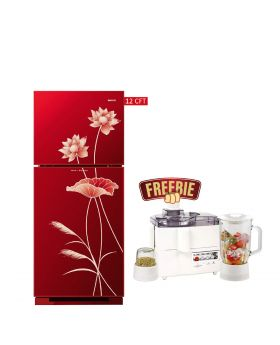 Orient Glass Door Refrigerator Ruby 330 Liters + National 3 In 1 Juicer, Blender & Dry Mill SP-178-J