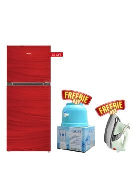 Haier Glass Door Refrigerator HRF-336 EPR/EPB/EPC Without Handle + Target Water Dispenser + National Deluxe Automatic Iron