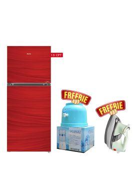Haier Glass Door Refrigerator HRF-368 EPB/EPR/EPC + National Deluxe Automatic Iron + Target Water Dispenser