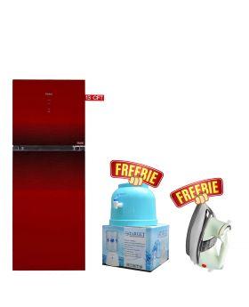 Haier HRF-368 IDBT/IDRT Digital Panel Inverter Turbo Cooling Refrigerator + Target Water Dispenser + National Deluxe Automatic Iron
