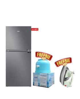 Haier Refrigerator E-Star Series HRF-398 EBS/EBD Without Handle + Target Water Dispenser +  National Deluxe Automatic Iron