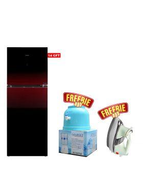 Haier Turbo Cooling Refrigerator HRF-398 IDRT/IDBT Digital Panel Inverter + National Deluxe Automatic Iron + Target Water Dispenser