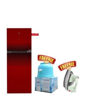 Haier Turbo Cooling Refrigerator HRF-438 IDBT/IDRT Digital Panel Inverter + National Deluxe Automatic Iron + Target Water Dispenser