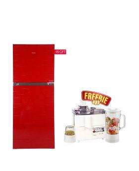 Haier HFR-438 TPB/TPR 15 CFT Turbo cooling Refrigerator + National 3 In 1 Juicer, Blender & Dry Mill SP-178-J
