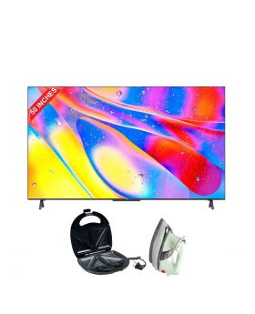 """TCL 50"""" C725 QLED TV + Aldon Golden Sandwich Maker AD-252 + National Deluxe Automatic Iron"""