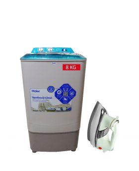 Haier Washing Machine HWM-8060 + National Deluxe Automatic Iron