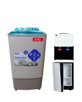 Haier Washing Machine HWM-8060 + PEL 115 Smart Water Dispenser