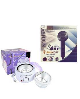 Hair Dryer SHINON SH-8168 -New model + Pro-Wax Professional Hair Removal Wax Heater & Wax Warmer
