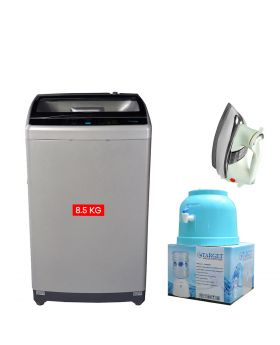 Haier Fully Automatic Washing Machine HWM 85-1708 + National Deluxe Automatic Iron + Target Water Dispenser