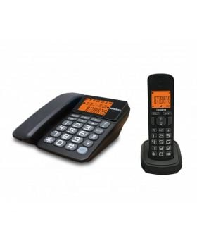 Uniden AT4503 Corded & Cordless Combo Phone DECT (1.8 Ghz) Black