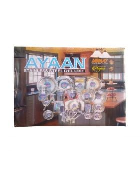 Ayyan Rico Stainless Steel Deluxe - 82 PCS