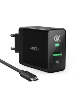 Anker PowerPort+ 1 & 3ft Micro USB Cable