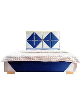 Blue Glossy Bed