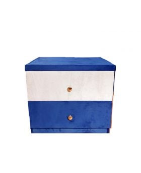 Blue Glossy Side Table