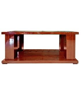 Brown Biscotti Bench Shape Table