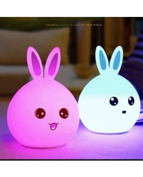 Cute Rabbit Silicone LED Night Lamp
