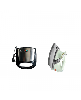 National Deluxe Automatic Iron + National Sandwich Maker NP-590
