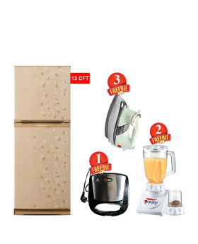 Orient Snow 380L Refrigerator +  National Romex Blender 2 In 1 + National Deluxe Automatic Iron + Aldon Gold Sandwich Maker AD-252