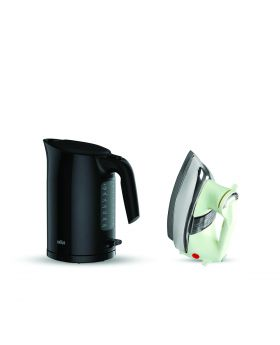 Braun WK 3100 Electric Kettle 1.7 L + National Deluxe Automatic Iron