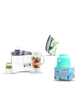 National 3 In 1 Juicer, Blender & Dry Mill SP-178-J + National Deluxe Automatic Iron + Target Water Dispencer