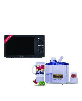 EcoStar Microwave Oven 20 Ltrs EM 2023BSM + National Juicer 3 in 1 N-149