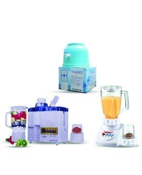 National Juicer 3 in 1 N-149 + National Romex Blender 2 In 1 + Target Water Dispenser