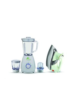 E-Lite Smart Blender 3 in 1 – EJB-001 + National Deluxe Automatic Iron