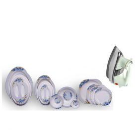 Patex Dior Dinner Set + National Deluxe Automatic Iron