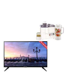 EcoStar 32 Inch Sound Pro CX-32U577 LED TV + National 3 In 1 Juicer, Blender & Dry Mill SP-178-J