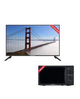 EcoStar 39 Inch Sound Pro LED TV - CX-39U573 + EcoStar Microwave Oven 20 Ltrs EM 2023BSM