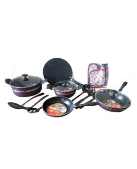 Galaxy Non-Stick Cookware Set - 11 Pcs