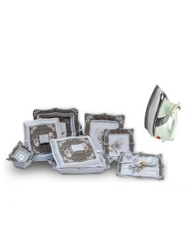Patex Glory Dinner Set + National Deluxe Automatic Iron