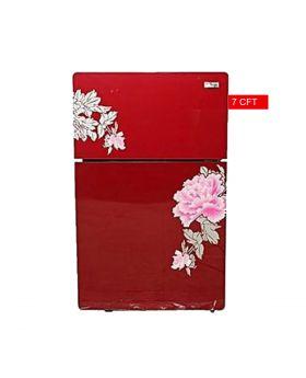 Gaba National Glass Double Door Refrigerator Red (GNR-187) 7 CFT