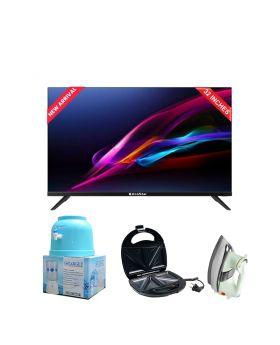 EcoStar 32 Inch Smart LED TV - CX-32U862 + National Deluxe Automatic Iron + Target Water Dispenser + Aldon Golden Sandwich Maker AD-252