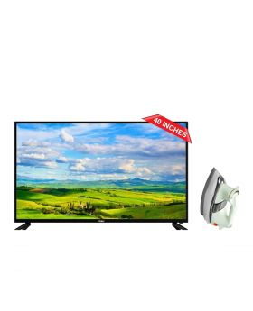 """Haier 40"""" Inches H40D6G Smart Led TV + National Deluxe Automatic Iron"""