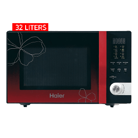 Haier 32 Liters Red Ribbon Microwave Oven HGN-32100EGB