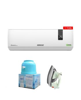 Homage Element Series 1TON Inverter AC HES-1204S + Target Water Dispenser + National Deluxe Automatic Iron
