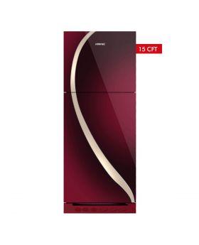 Homage Glass Door Refrigerator HRF-47552-MRN 15 Cuft