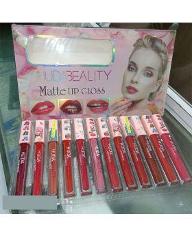 Huda Beauty 12 Matte Lip Gloss Set