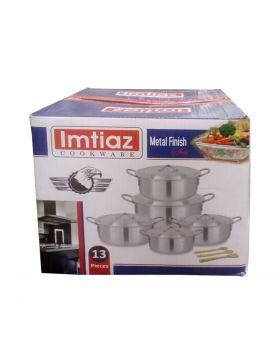 Imtiaz Cookware Metal Finish Set - 13 PCS
